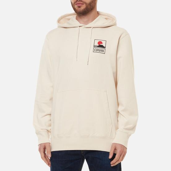 Мужская толстовка Edwin Sunset On Mount Fuji Hoodie Whisper White Garment Washed