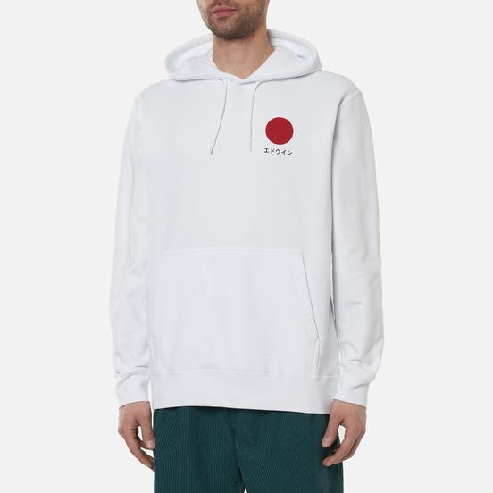 Мужская толстовка Edwin Japanese Sun Hoodie White Garment Washed