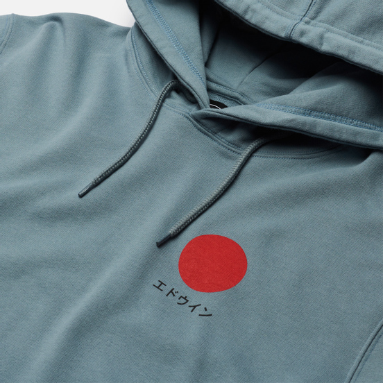 Мужская толстовка Edwin Japanese Sun Hoodie Tarmac Garment Washed