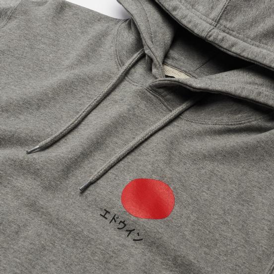 Мужская толстовка Edwin Japanese Sun Hoodie Mid Grey Marl Garment Washed