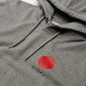 Мужская толстовка Edwin Japanese Sun Hoodie Mid Grey Marl Garment Washed фото - 1