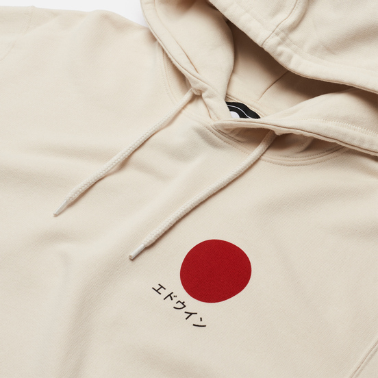 Мужская толстовка Edwin Japanese Sun Hoodie Whisper White Garment Washed