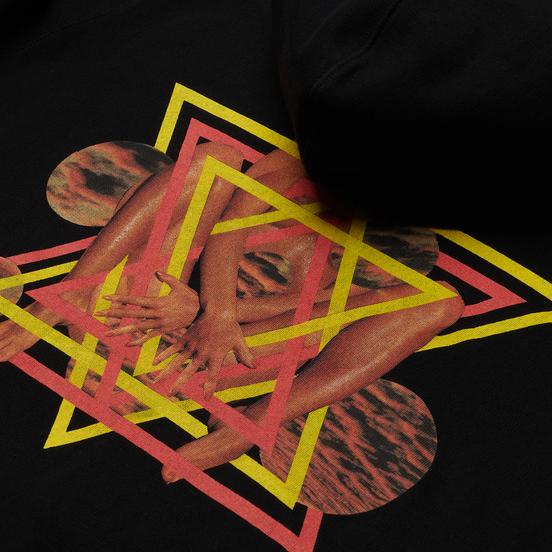 Мужская толстовка Edwin Fortress Collage Hoodie Black Garment Washed