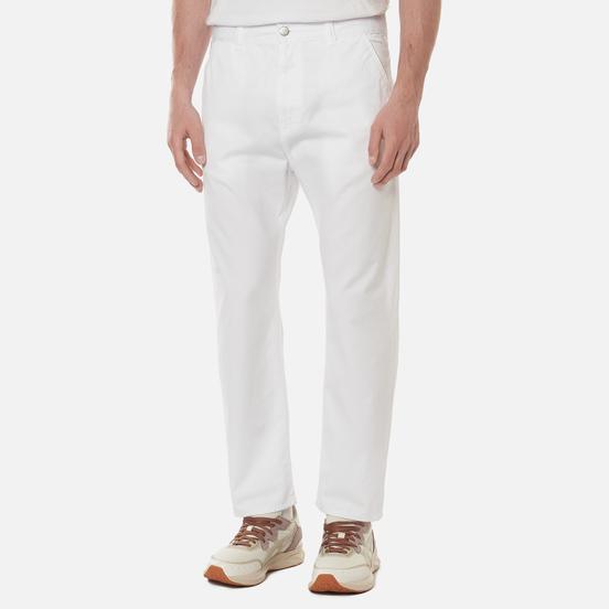 Мужские брюки Edwin Universe Cropped PFD Light Cotton Twill 6.8 Oz White Garment Dyed
