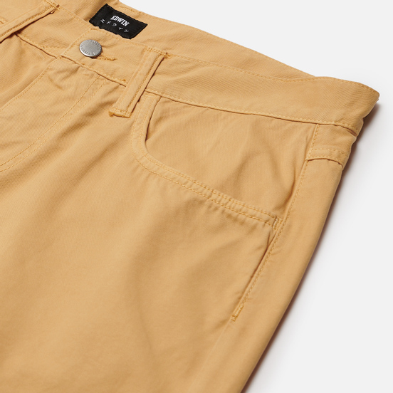 Мужские брюки Edwin 55 PFD Light Cotton Twill 6.8 Oz Curry Garment Dyed