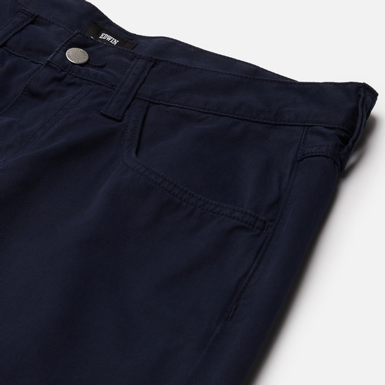 Мужские брюки Edwin 55 PFD Light Cotton Twill 6.8 Oz Navy Blazer Gament Dyed