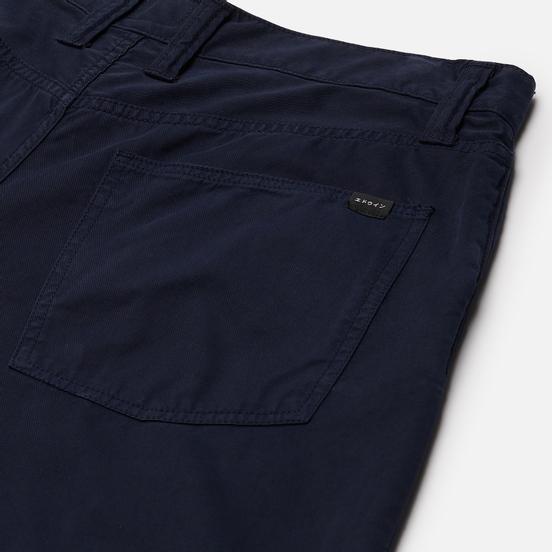Мужские брюки Edwin Tyrell PFD Light Cotton Twill 6.8 Oz Navy Blazer Garment Dyed