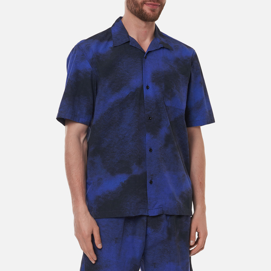 Мужская рубашка Edwin Blue Haze All Over Print Blue Haze Garment Dyed