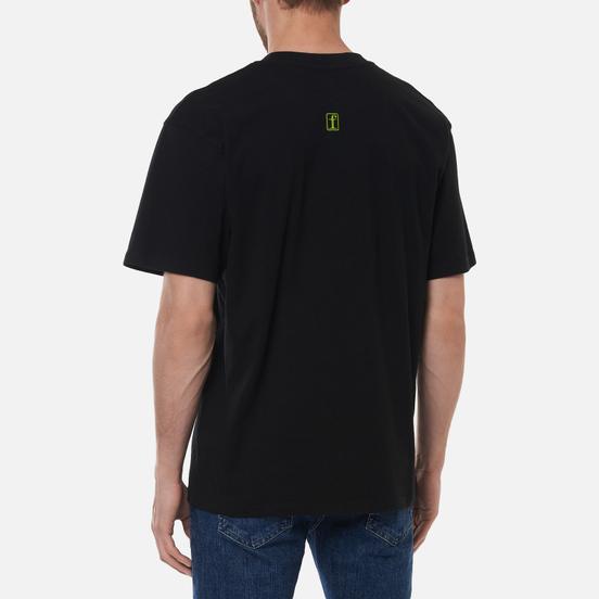 Мужская футболка Edwin Fortress Collage II Black Garment Washed