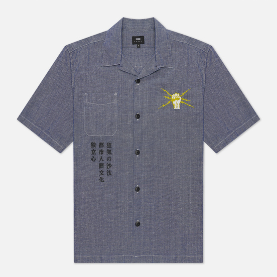 Мужская рубашка Edwin Autonomous Blue Rinsed Softener
