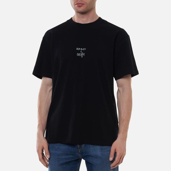 Мужская футболка Edwin x Arjun Reflective Print Black Garment Washed