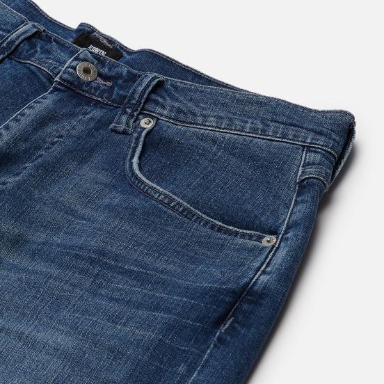 Мужские шорты Edwin ED-55 CS Night Blue Denim 11 Oz Blue Mid Trip Used