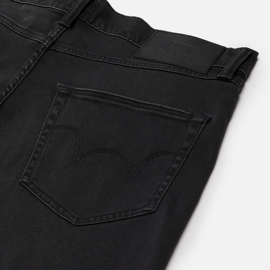 Мужские шорты Edwin ED-45 CS Ink Black Denim 11.5 Oz Black Silvery Wash