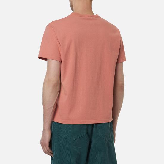 Мужская футболка Edwin Blank Crew Neck Soft Orange Rinsed