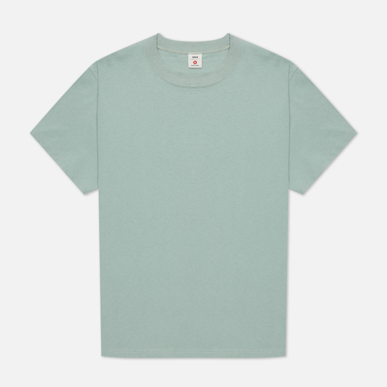 Мужская футболка Edwin Blank Crew Neck Soft Green Rinsed