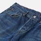 Мужские джинсы Edwin Regular Tapered Kaihara Indigo Blue x White Selvage 11 Oz Blue Mid Used фото - 1