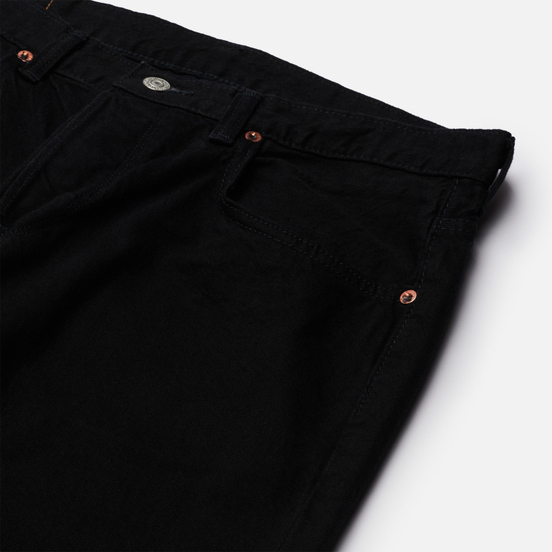 Мужские джинсы Edwin Regular Tapered Kaihara Black x White Selvage 11 Oz Black Rinsed