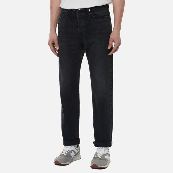 Мужские джинсы Edwin Loose Tapered Kaihara Black x White Selvage 11 Oz Black Dark Used
