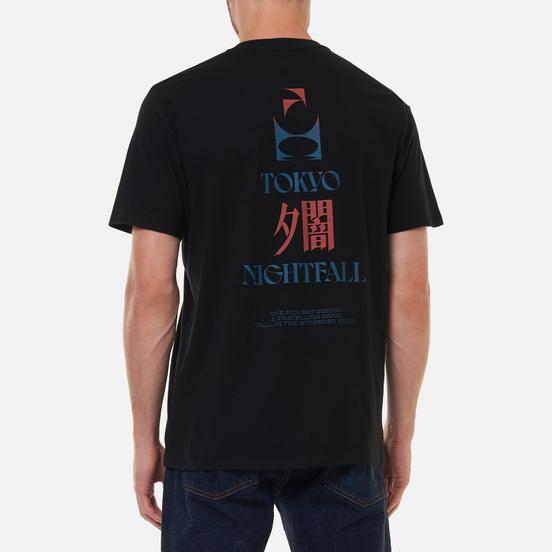 Мужская футболка Edwin Tokyo Nightfall Black Garment Washed