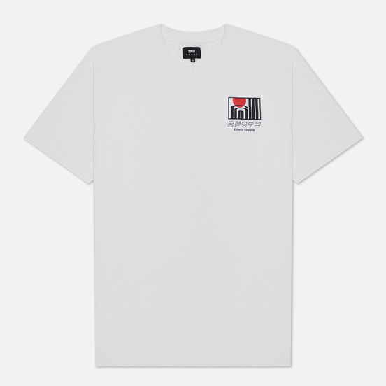 Мужская футболка Edwin Sun Buildings White Garment Washed