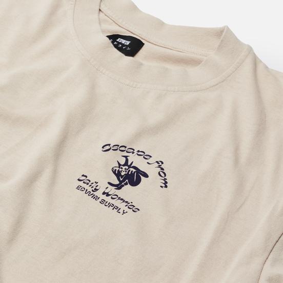 Мужская футболка Edwin Keep It Surreal Silver Grey Garment Washed