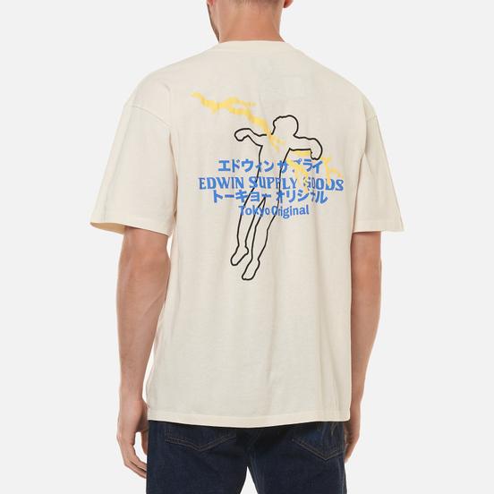 Мужская футболка Edwin Tokyo Original Whisper White Garment Washed
