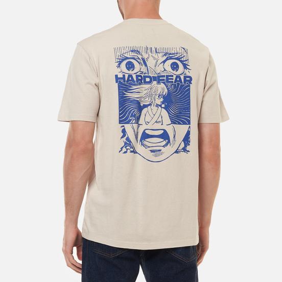 Мужская футболка Edwin Hard Fear Silver Grey Garment Washed