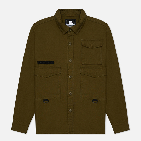 Мужская рубашка Edwin D-Ring Mili Uniform Green Enzyme Washed