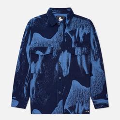 Мужская рубашка Edwin Big Panama Navy Smoke All Over Print Garment Washed