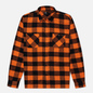 Мужская рубашка Edwin Labour Heavy Flannel Brushed Seville Orange Garment Washed фото - 0