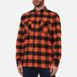 Мужская рубашка Edwin Labour Heavy Flannel Brushed Seville Orange Garment Washed фото - 2