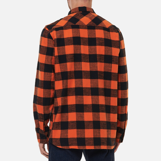 Мужская рубашка Edwin Labour Heavy Flannel Brushed Seville Orange Garment Washed