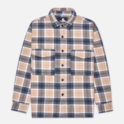 Мужская рубашка Edwin Big Heavy Flannel Brushed Ebony/Silver Grey Garment Washed