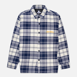 Мужская рубашка Edwin Sven Lined Mid Flannel Brushed Maritime Blue Garment Washed