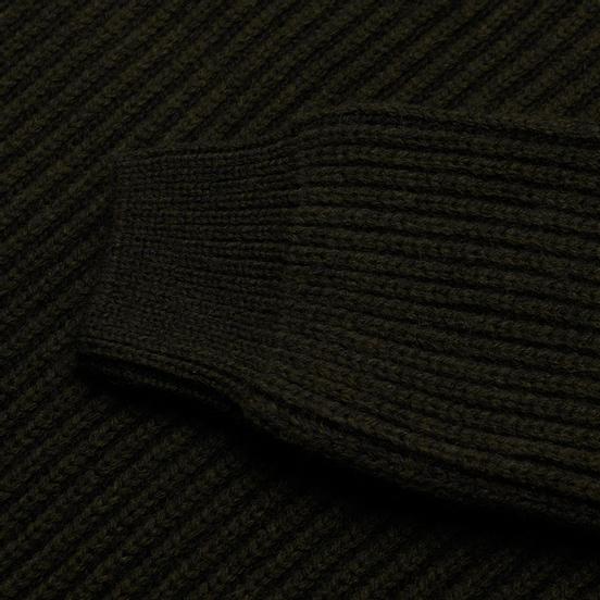 Мужской свитер Edwin Roni High Collar Uniform Green Garment Washed