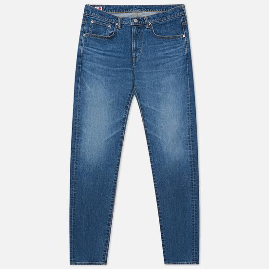 Мужские джинсы Edwin Slim Tapered Kaihara Organic Stretch Denim Blue Mid Used