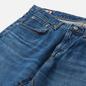 Мужские джинсы Edwin Slim Tapered Kaihara Organic Stretch Denim Blue Mid Used фото - 1