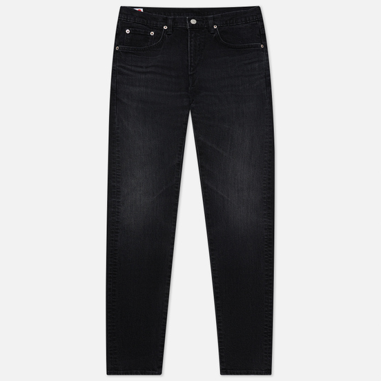 Мужские джинсы Edwin Slim Tapered Kaihara Organic Stretch Black Denim Black Used