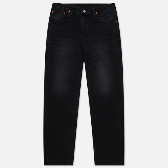 Мужские джинсы Edwin Loose Straight Kaihara Black x White Selvage 11 Oz Black Dark Used