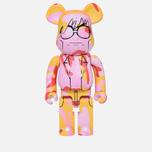 Игрушка Medicom Toy Bearbrick Andy Warhol Camo Pink 1000% фото- 0