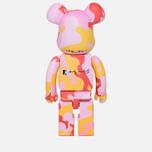 Игрушка Medicom Toy Bearbrick Andy Warhol Camo Pink 1000% фото- 2