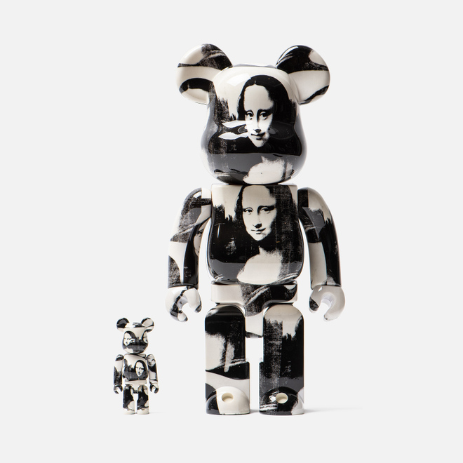 Игрушка Medicom Toy Bearbrick Andy Warhol Double Mona Lisa 100% & 400%
