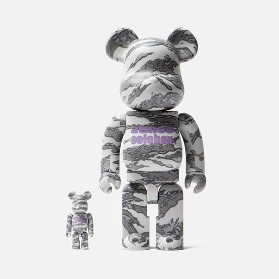 Игрушка Medicom Toy Bearbrick atmos x Solebox 100% & 400%