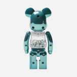 Игрушка Medicom Toy Bearbrick Chogokin My First B@by Turquoise 200% фото- 2