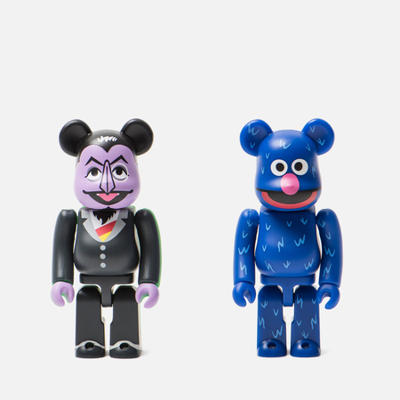 Игрушка Medicom Toy Bearbrick Count Von Count & Grover 2-Pack 100%