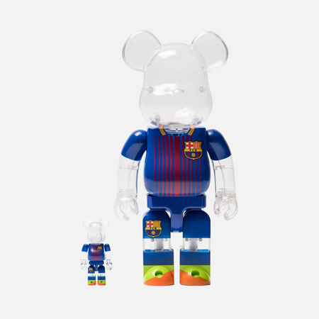 Игрушка Medicom Toy Bearbrick FC Barcelona Set 100% & 400%