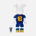 Игрушка Medicom Toy Bearbrick FC Barcelona Set 100% & 400% фото- 2