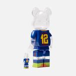 Игрушка Medicom Toy Bearbrick FC Barcelona Set 100% & 400% фото- 1