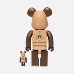 Игрушка Medicom Toy Bearbrick Freemasonry Set Version 100% & 400% фото- 1