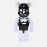 Игрушка Medicom Toy Bearbrick Freemasonry x Fragmentdesign Black 1000% фото- 0